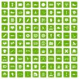 100 mäns gräsplan för grunge för lagsymboler fastställd Arkivfoton