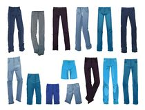 Mäns jeans Arkivfoto