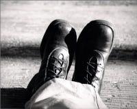 Mäns kängor Fotografering för Bildbyråer
