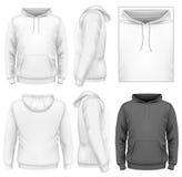 Mäns mall för hoodiedesign vektor illustrationer