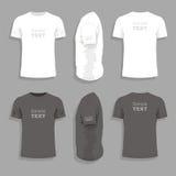 Mäns mall för t-skjorta design Fotografering för Bildbyråer