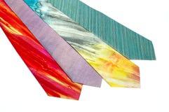Mäns siden- slipsar Arkivbild
