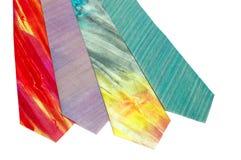 Mäns siden- slipsar Royaltyfri Bild