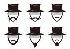 Mäns skägg - symbolsuppsättning vektor illustrationer