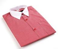Mäns skjorta som är röd Royaltyfri Foto