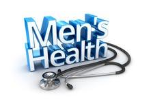 Mäns vård- text, medicin royaltyfri illustrationer