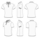 Mäns vit kort skjorta för muffpolo. Royaltyfria Bilder