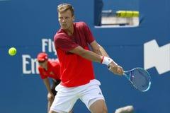 Mäns yrkesmässiga tennis Fotografering för Bildbyråer