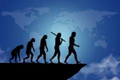 Mänsklig evolution royaltyfri illustrationer