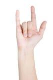 Mänsklig handgest Royaltyfri Bild