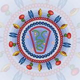 Mänsklig immonodeficiencyvirus Bakgrund 10 eps Arkivbild