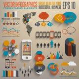 Mänsklig infographics Arkivfoton