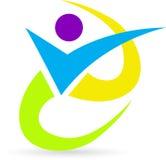 Mänsklig logo Fotografering för Bildbyråer