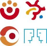 mänsklig logovektor royaltyfri illustrationer