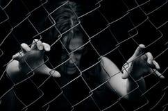Mänsklig människohandel - begreppsfoto Royaltyfri Bild
