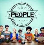 Mänsklig mänsklighetegenart Person Concept för folk Arkivbilder
