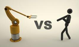 mänsklig maskin vs Arkivfoton