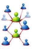 mänsklig nätverkande royaltyfri illustrationer
