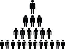 Mänsklig pictogrampyramid Royaltyfri Bild