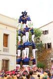 mänsklig pyramid Royaltyfri Bild