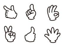 mänsklig signaleringssky för blå hand vektor illustrationer