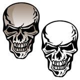 Mänsklig skalle isolerad vektorillustration royaltyfri illustrationer