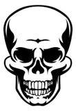 Mänsklig skallesymbol royaltyfri illustrationer