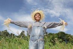 mänsklig skratta scarecrow Royaltyfri Bild