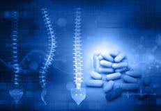Mänsklig snurrande med medicin stock illustrationer