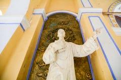 Mänsklig staty i den Mang Lang kyrkan, Vietnam Royaltyfri Foto