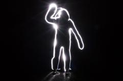 Mänsklig suddighet säger högt Fotografering för Bildbyråer