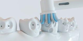 Mänsklig tecknad film för tand - tolkning 3D Royaltyfri Fotografi