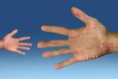 mänsklig teknologi Royaltyfri Fotografi