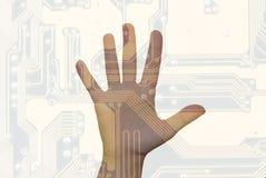 mänsklig teknologi arkivfoton