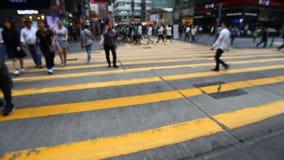 Mänsklig trafik i Hong Kong arkivfilmer