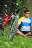 mänskliga cyklister Arkivbild