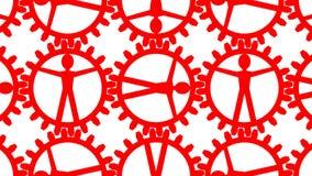 Mänskliga källor - folk som kugghjul i maskin stock illustrationer