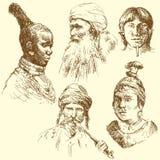 mänskliga races för mångfald royaltyfri illustrationer
