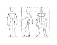 Mänskligt diagram män b Royaltyfri Bild