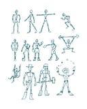 Mänskligt diagram män c Royaltyfria Foton
