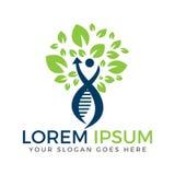 Mänskligt DNA och genetisk logodesign Royaltyfri Fotografi