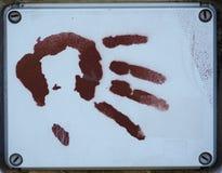 Mänskligt hand-skriv ut Royaltyfria Foton