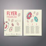 Mänskligt huvud för abstrakt broschyrreklambladdesign med Fotografering för Bildbyråer