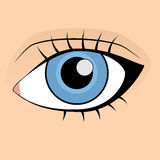 mänskligt makroskytte för blått öga stock illustrationer