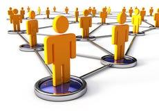 mänskligt nätverk för anslutningar Arkivbild