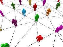 Mänskligt socialt nätverk för affär Royaltyfri Bild