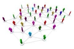 Mänskligt socialt nätverk för affär Arkivbilder