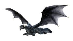 Märchen-Drache der Wiedergabe-3D auf Weiß stockfotografie