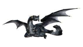 Märchen-Drache der Wiedergabe-3D auf Weiß stockfoto