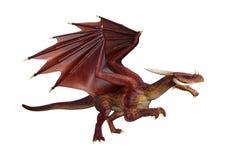 Märchen-Drache der Wiedergabe-3D auf Weiß Stockbild